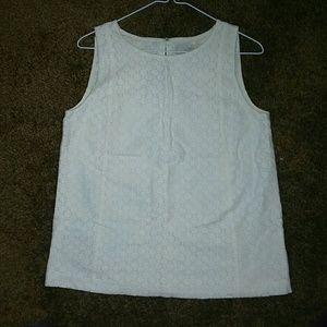LOFT Size Small White Blouse
